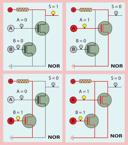 NOR electrical circuit
