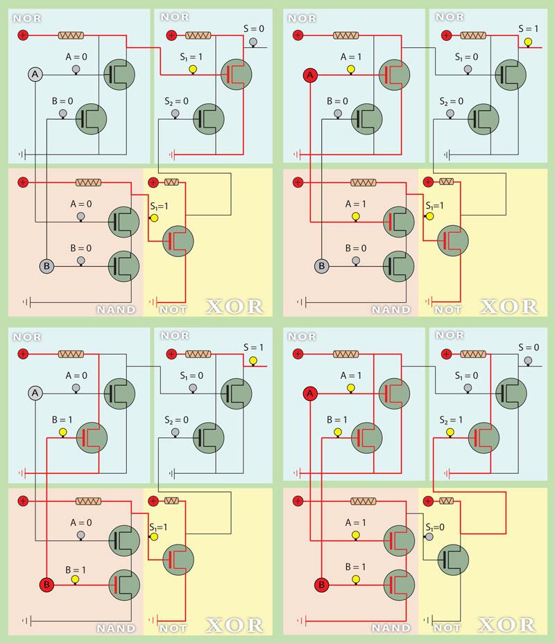 XOR electric circuit