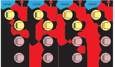Porta NAND feita em CMOS