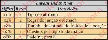 Figura 12.27 - Layout Index Root do atributo $INDEX_ROOT.