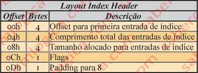 Figura 12.28 - Tabela com descrição do Layout Index Header do atributo $INDEX_ROOT.